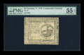 Colonial Notes:Continental Congress Issues, Continental Currency February 17, 1776 $2 PMG About Uncirculated 55EPQ....