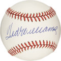 Autographs:Baseballs, Ted Williams Single Signed Baseball. Fans of the Splendid Splinterwill surely clamor over this stunning single. Save for ...