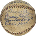 Autographs:Baseballs, 1931 Houston Buffaloes Team Signed Baseball. The Houston Buffaloesoperated as a Texas League farm team of the St. Louis Ca...