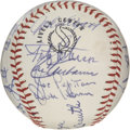 Autographs:Baseballs, 1968 New York Yankees Team Signed Baseball. Twenty-two from 1968'sNew York Yankees have presented their signatures to the ...