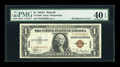 Error Notes:Skewed Reverse Printing, Fr. 2300 $1 1935A Hawaii Silver Certificate. PMG Extremely Fine 40EPQ.. ...
