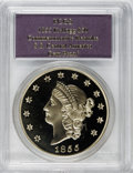 "S.S.C.A. Relic Gold Medals, SSCA Relic Gold Medal ""1855 Kellogg & Co. Fifty"" Gem ProofPCGS.... (Total: 2 items)"