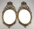 Furniture : English, A PAIR OF VICTORIAN-STYLE WALL MIRRORS. 20th Century. 31-1/2 inches(80.0 cm) high, each. ... (Total: 2 Items)