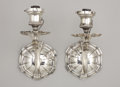 Lighting:Sconces, A PAIR OF AMERICAN SILVER-PLATE WALL SCONCES. Attributed to Edward F. Caldwell & Co., New York, Early 20th Century. 10 inche... (Total: 2 Items)