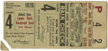 Baseball Collectibles:Tickets, 1926 St. Louis Cardinals World Series Game 4 Ticket Stub. In one ofthe more thrilling World Series the 1926 St. Louis Card...