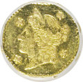 California Fractional Gold, 1855/4 25C Liberty Octagonal 25 Cents, BG-106, R.3, MS63 NGC. NGCCensus: (3/11). PCGS Population (41/44). (#10375)...