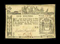 Colonial Notes:New York, New York February 16, 1771 £10 Extremely Fine....