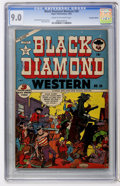 Golden Age (1938-1955):Western, Black Diamond Western #39 Canadian Edition (Lev Gleason, 1952) CGC VF/NM 9.0 Cream to off-white pages....