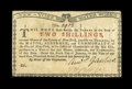 Colonial Notes:New York, New York January 6, 1776 (Water Works) 2s Choice New....