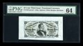 Fractional Currency:Third Issue, Fr. 1291SP 25c Third Issue Wide Margin Pair PMG Choice Uncirculated 64.... (Total: 2 notes)