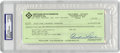 Autographs:Checks, 1994 Curtis Flood Signed Check, PSA Authentic. When Curt Flood challenged baseball's long-standing reserve clause in 1969, ...