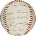 Autographs:Baseballs, 1964 New York Yankees Team Signed Baseball. The AL champs for the1964 season have checked in here as we present 25 New York...