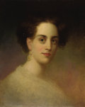 Fine Art - Painting, American:Antique  (Pre 1900), Attributed to PAUL SAWYIER (American, 1865-1917). Portrait ofLucy Weisiger Lindsey Blayney. Oil on canvas laid on cardb...