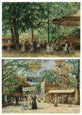 Fine Art - Painting, European:Modern  (1900 1949)  , HENRICUS MATTHEUS HORRIX (Dutch, 1845-1923). A Day at theCircus, 1910 (pair). Watercolor on paper. 13-1/2 x 19-1/4inch... (Total: 2 Items)