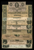 Confederate Notes:1864 Issues, A Denomination Set of 1864 Confederate Notes:. ... (Total: 9 notes)