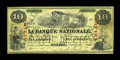 """Canadian Currency: , Quebec, PQ- La Banque Nationale $10 April 28, 1860 Ch. # 510-10-04-12 """"Ottawa Overprint."""". ..."""