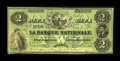Canadian Currency: , Quebec, PQ- La Banque Nationale $2 May 25, 1860 Ch. # 510-10-04-08....