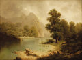 Fine Art - Painting, European:Antique  (Pre 1900), AUGUST LANG (Austrian, 1837-1895). Landscape with MountainVista. Oil on canvas. 29 x 39-1/2 inches (73.7 x 100.3 cm). ...
