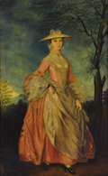 Fine Art - Painting, European:Antique  (Pre 1900), After THOMAS GAINSBOROUGH (British, 1727-1788). Portrait ofMary, Countess Howe, circa 1870. Oil on canvas. 44 x 27-3/4 ...