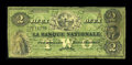 Canadian Currency: , Quebec, PQ- La Banque Nationale $2 April 28, 1860 CH. #510-10-04-06. ...