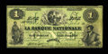 Canadian Currency: , Quebec, PQ- La Banque Nationale $1 March 25, 1860 Ch. #510-10-02-02. ...
