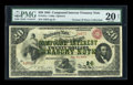 Large Size:Compound Interest Treasury Notes, Fr. 191a $20 1864 Compound Interest Treasury Note PMG Very Fine 20NET....