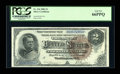 Large Size:Silver Certificates, Fr. 244 $2 1886 Silver Certificate PCGS Gem New 66PPQ....