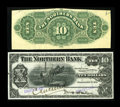 Canadian Currency: , Winnipeg, MB- The Northern Bank $10 Nov. 1, 1905 Ch. # 540-10-04PFace and Back Proofs.. ... (Total: 2 notes)