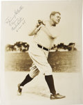 Autographs:Photos, 1948 Babe Ruth Signed Photograph. Just two months before succumbingto the cancer that had robbed the Babe of his once powe...