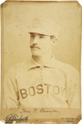 Baseball Collectibles:Photos, 1889 Tom Brown (Boston NL) Cabinet Photograph. Scarce early cabinetpictures Boston Beaneaters outfielder Thomas Brown, who...