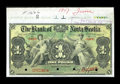 Canadian Currency: , Kingston, Jamaica- The Bank of Nova Scotia £1 January 2, 1900 Ch. # 550-38-02-02S Specimen. ...