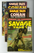 Magazines:Adventure, Savage Tales #1-6 Group (Marvel, 1971-74) Condition: Average VF.... (Total: 6 Comic Books)
