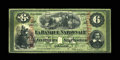 Canadian Currency: , Quebec, PQ- La Banque Nationale $6 May 28, 1870 Ch. # 510-12-07a Sherbrooke Overprint. ...