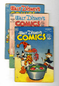 Golden Age (1938-1955):Cartoon Character, Walt Disney's Comics and Stories Group (Dell, 1948-60) Condition:Average GD/VG.... (Total: 6 Comic Books)