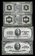 Canadian Currency: , Montreal, PQ- La Banque Provinciale du Canada $5 615-15-02P, $10 615-15-04P Unlisted Face and Back Proofs. ... (Total: 4 notes)