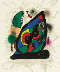 JOAN MIRÓ (Spanish, 1893-1983) Lithograph IV, 1981 Lithograph in colors 17-3/4 x 14-5/8 inches (4