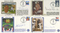 Autographs:Letters, Baseball Hall of Famers Signed First Day Covers Lot of 4. Four ofthe most-beloved ballplayers of their respective eras hav...