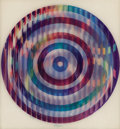 Prints, YAACOV AGAM (Israeli, b. 1928). Trois Movement. Agamograph. 15-1/4 x 14-1/4 inches (38.7 x 36.2 cm). Ed. 36/99. Signed l...