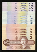 Canadian Currency: , Birds of Canada Notes - $2s 1986; $5s 1986; and $10s 1989 ChoiceCrisp Uncirculated. ... (Total: 28 notes)