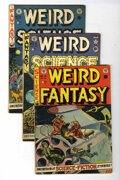 Golden Age (1938-1955):Science Fiction, EC Comics Science Fiction Group (EC, 1952) Condition: AverageVG.... (Total: 3 Comic Books)