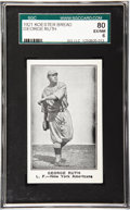 """Baseball Cards:Singles (Pre-1930), 1921 Koester Bread George Ruth SGC 80 EX/NM 6. The first ever New York City """"Subway Series"""" was the catalyst in giving birt..."""
