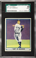 Baseball Cards:Singles (1940-1949), 1941 Play Ball Joe DiMaggio #71 SGC 88 NM/MT 8. With eighty-eightsubmissions to the SGC grading service at the time of this...