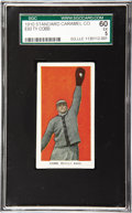 Baseball Cards:Singles (Pre-1930), 1910 E93 Standard Caramel Co. Ty Cobb SGC 60 EX 5. The mostvaluable card in this ultra-tough thirty card candy issue is pre...