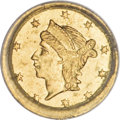 California Fractional Gold, 1855 25C Liberty Round 25 Cents, BG-226A, R.5, MS64 PCGS....
