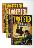 Golden Age (1938-1955):War, Two-Fisted Tales #21, 22, and 25 Group (EC, 1951-52) Condition:Average VG/FN.... (Total: 3 Comic Books)