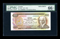 Canadian Currency: , BC-52aS $100 1975 Specimen. ...