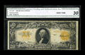 Large Size:Gold Certificates, Fr. 1187 $20 1922 Gold Certificate Star Note CGA Very Fine 30....
