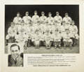Autographs:Photos, 1938 Minneapolis Millers Team Signed Photograph with Ted Williams.On his final stop before the Show, a nineteen-year old T...