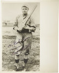 Autographs:Photos, 1940's Babe Ruth Signed Photograph in Boston Red Sox Uniform. Whilethe authenticators claimed that they could recall at le...