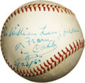 Autographs:Baseballs, 1960 Ty Cobb Single Signed Baseball. Magnificent high-grade representation of one of the hobby's most essential singles tic...